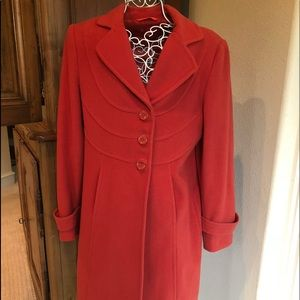AK anne klein Jackets   Coats - Anne Klein orange coat 1d7ac0b00
